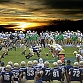 Football Field-notre Dame-navy by Ericamaxine Price