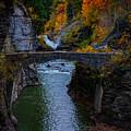Footbridge At Lower Falls by Rick Berk