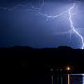 Foothills Lake Lightning Extreme Weather Storm by James BO  Insogna