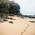 Footprints Along The Beach by Parker Cunningham