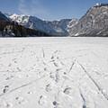 Footprints On A Frozen Lake by Ian Middleton
