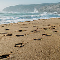 Footsteps At Guincho Beach, Portugal, by Alexandre Rotenberg