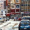 For Sale Original Paintings Montreal Petits Formats A Vendre Downtown Montreal Rue Stanley Cspandau  by Carole Spandau