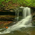Forbes State Forest Cole Run Cave Falls by Adam Jewell