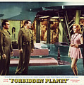 Forbidden Planet In Cinemascope Retro Classic Movie Poster Indoors by R Muirhead Art