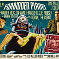 Forbidden Planet In Cinemascope Retro Classic Movie Poster by R Muirhead Art