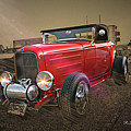 Ford Coupe Cartoon Photo Abstract by Randy Harris