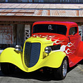 Ford Flaming Hot Rod by Nick Gray