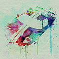 Ford Gt Top Watercolor  by Naxart Studio