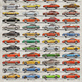 Ford Mustang Timeline History 50 Years by Yurdaer Bes