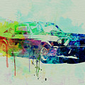 Ford Mustang Watercolor 2 by Naxart Studio