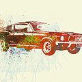 Ford Mustang Watercolor by Naxart Studio