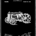 Ford Tractor Patent 1919 Black by Bill Cannon