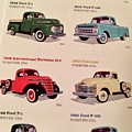 Ford Truck Stamps by Caroline Stella