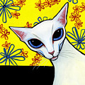 Foreign White Cat by Leanne Wilkes