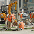 Foreign Workers - Manama Bahrain by Kenneth Lempert