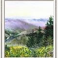 Forest And Mountains Window View by Irina Sztukowski