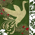 Forest Holiday Christmas Goose by Mindy Sommers