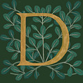 Forest Leaves Letter D by Donna Huntriss