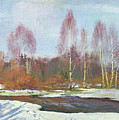 Forest River In Winter by Yue Minjun