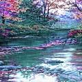 Forest River Scene. L B by Gert J Rheeders