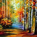 Forest Road by Leonid Afremov