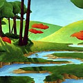 Forest Stream - Through The Forest Series by Richard Hoedl