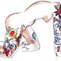 Forever Amber - Tattoed Nude by Carolyn Weltman