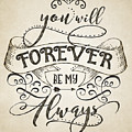 Forever Be My Always by Gyongyi Ladi