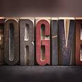 Forgive - Antique Letterpress Letters by Donald Erickson