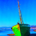 Forgotten Green Boat by Garry Gay