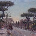 Fori Romani - Street To Colosseo by Ylli Haruni