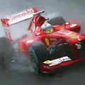 Formula One Burning The Track by Garland Johnson