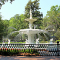 Forsyth Park Fountain Square by Carol Groenen