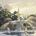 Forsyth Park Fountain - Savannah by Paulette B Wright