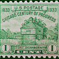 Fort Dearborn Postage Stamp by James Hill