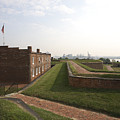 Fort Mchenry Earthworks And Barracks In Baltimore Maryland by William Kuta