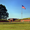 Fort Mchenry Entrance Gate And Flag by Bill Swartwout Fine Art Photography