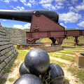 Fort Moultrie Cannon Balls by Dustin K Ryan