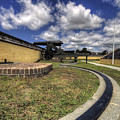 Fort Moultrie Cannon Rails by Dustin K Ryan