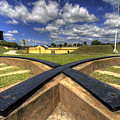 Fort Moultrie Cannon Tracks by Dustin K Ryan