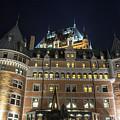 Fort  Of Quebec City At Night by Karen Foley