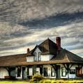 Fort Saskatchewan Railway Station Alberta Canada  by David Dehner