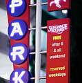 Fort Worth Parking Sign Digital Oil Paint by Rospotte Photography