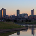 Fort Worth Skyline At Sunset by Lori Godfrey