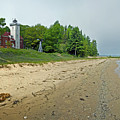 Forty Mile Point Lighthouse Springtime by Michael Peychich