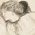 Found - Study For The Head Of The Girl by Dante Gabriel Rossetti