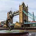 Fountain And Bridge by Robert Stasio