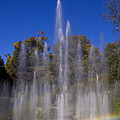 Fountain And Rainbow by Sally Weigand