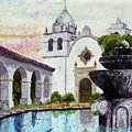 Fountain At Carmel by Laura Iverson